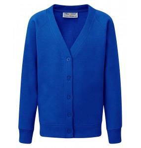 Classic School Cardigan - Royal Blue